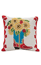Suzanne Nicoll Sunflowers in Boot Throw Pillow