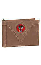 Danbury Collegiate Collection Texas Tech Brown Bi-fold Wallet