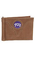 Danbury Collegiate Collection TCU Brown Bi-fold Wallet