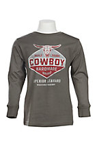 Cowboy Hardware Boy's Charcoal Logo Screen Print T-Shirt