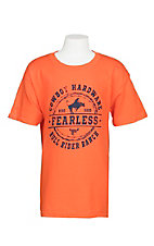 Cowboy Hardware Boys Orange Fearless Branded S/S T-Shirt