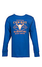 Cowboy Hardware Boys Built Tough Long Sleeve T-Shirt
