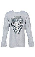 Cowboy Hardware Boys Cowboy Forever Long Sleeve Grey T-Shirt