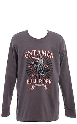 Cowboy Hardware Boys' Charcoal Untamed Bull Rider Long Sleeve T-Shirt