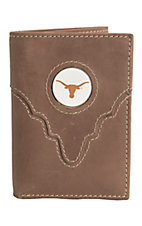 Danbury Collegiate Collection Texas Longhorn Brown Tri-fold Wallet