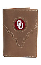 Danbury Collegiate Collection Oklahoma University Brown Tri-fold Wallet