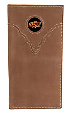 Danbury Collegiate Collection Oklahoma State University Brown Rodeo Wallet