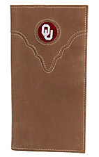 Danbury Collegiate Collection Oklahoma University Brown Rodeo Wallet