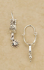 Bar V Ranch by Vogt Sterling Buckaroo Spur Dangle Earrings