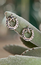 Bar V Ranch by Vogt Sterling Horseshoe and Star Post Earrings
