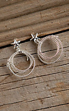 Bar V Ranch by Vogt Sterling Lasso and Star Dangle Post Earrings