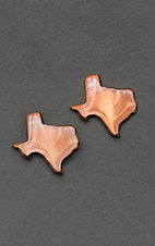 Bar V Ranch by Vogt Copper Texas Silhouette Earrings