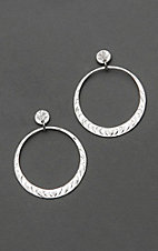 Bar V Ranch by Vogt Sterling Silver Hoop Earrings