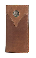 Danbury Collegiate Collection Silver Texas Aggies Brown Rodeo Wallet