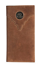 Danbury Collegiate Collection Silver LSU Brown Rodeo Wallet