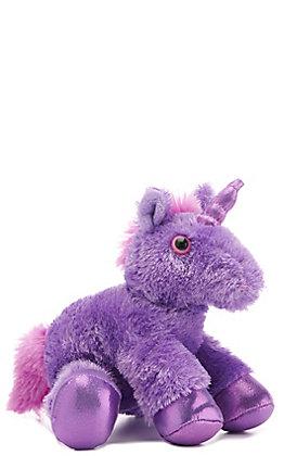 Aurora Purple Bright Stuffed Unicorn