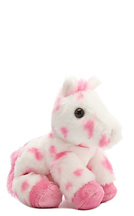 Aurora Mini Flopsies Lady Pink & White Stuffed Horse