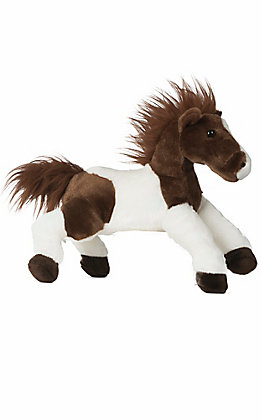 Aurora Tola Brown & White Paint Stuffed Horse