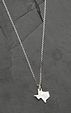 Bar V Ranch by Vogt Sterling Silver Texas Pendant Necklace