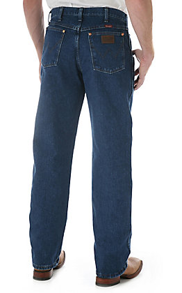 Wrangler Men's Cowboy Cut Medium Stonewash Relaxed Fit Jeans - Extended Sizes (44-46)