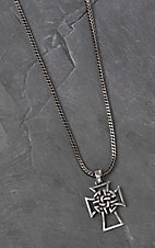 Twister Men's Grey with Celtic Cross Necklace