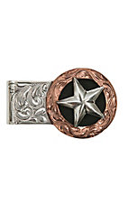 Bar V Ranch by Vogt Engraved Sterling Silver and Copper Money Clip