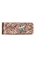 Bar V Ranch by Vogt Engraved Copper and Silver Star Money Clip