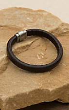 M&F Twister Men's Brown Smooth Bracelet
