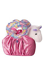 Aurora Heart Felt Pink Pal Horse & Purse
