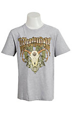 Cowboy Hardware Boy's Heather Grey Hunters Hardware Screen Print Short Sleeve Tee