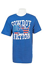 Cowboy Hardware Boy's Blue with Cowboy Nation Screen Print Short Sleeve T-Shirt