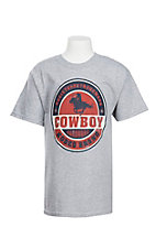 Cowboy Hardware Boy's Grey Rodeo Brand Short Sleeve T-Shirt