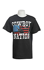 Cowboy Hardware Boy's Grey with Cowboy Nation Screen Print Short Sleeve T-Shirt