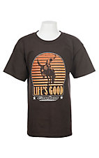 Cowboy Hardware Boys Chocolate Life is Good S/S T-Shirt