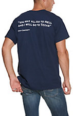 Men's Navy Davy Crockett Texas S/S T-Shirt