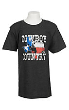 Cowboy Hardware Boy's Charcoal Grey Cowboy Country S/S T-Shirt