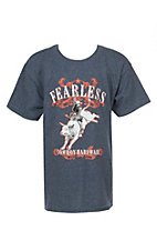 Cowboy Hardware Boys Navy Blue Fearless Bullrider Short Sleeve T-Shirt