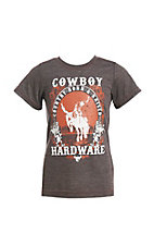 Cowboy Hardware Boys Brown Born and Raised T-Shirt