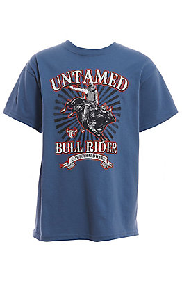 Cowboy Hardware Boys' Blue Bull Rider Graphic T-Shirt