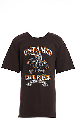 Cowboy Hardware Boy's Untamed Bull Rider Short Sleeve T-Shirt