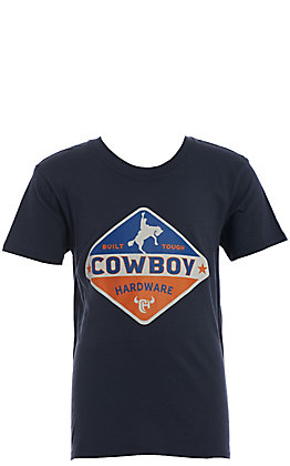 Cowboy Hardware Boys' Blue Built Tough Short Sleeve T-Shirt