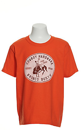 Cowboy Hardware Boys' Orange Bronco Bust'n Short Sleeve T-Shirt