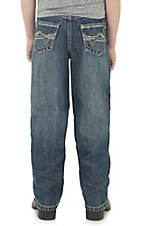 Wrangler 20X Boy's Medium Wash Open Pocket Extreme Relax Straight Leg Jeans