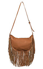 Urban Originals Tan Sahara Spirit Boho Fringe Purse