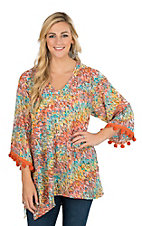 Uncle Frank Women's Orange and Mint Tunic