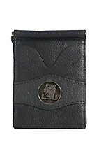 Danbury Collegiate Collection Black with Silver LSU Bi-fold Wallet