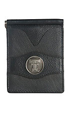 Danbury Collegiate Collection Black with Silver Texas Tech Bi-fold Wallet