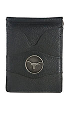 Danbury Collegiate Collection Black with Silver UT Bi-fold Wallet