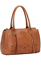 American West Amber Waves Structured Zip Top Satchel