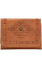 American West Ladies Amber Waves Small Tri-Fold Wallet
